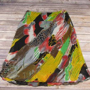 Harve Benard Colorful Abstract Skirt Medium